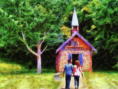 Going To The Chapel Print by Jai Johnson