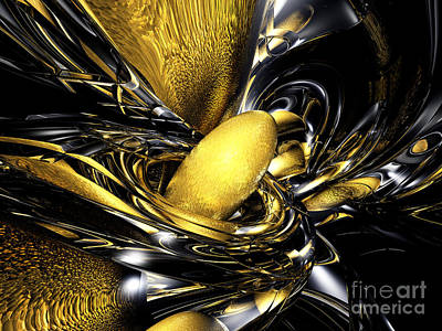 Gold Fever Abstract Print by Alexander Butler