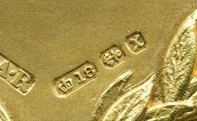 Hallmark Photograph - Gold Hallmarks, 1897 by Sheila Terry