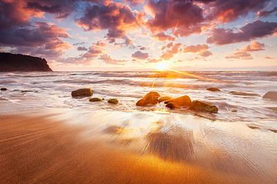 Golden Beach Print by Evgeni Dinev