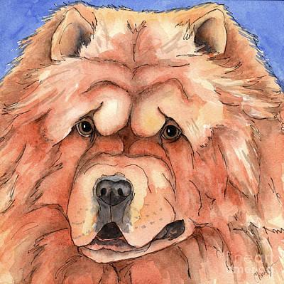 Golden Chow Chow Dog Print by Cherilynn Wood