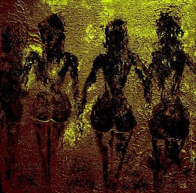Golden Harmony Print by Piety Dsilva