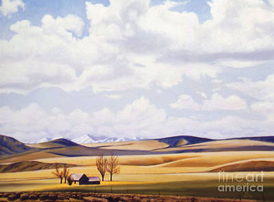 Phil Hopkins Painting - Golden Hills by Phil Hopkins