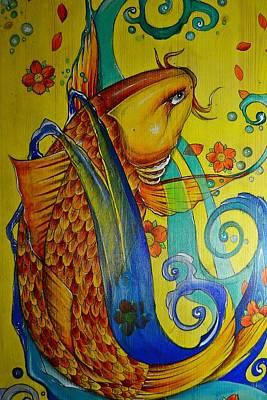 Golden Koi Print by Sandro Ramani