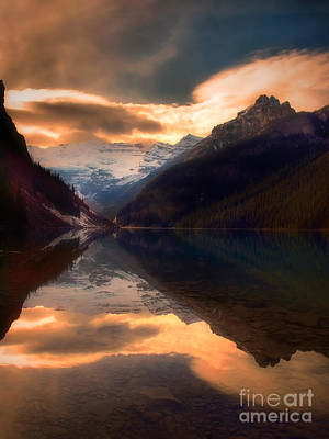 Golden Light On The Rockies Print by Tara Turner
