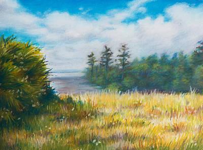 Golden Meadow In The Sun Print by Anna Abramska