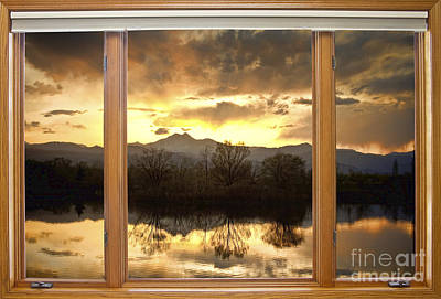 Golden Ponds Window With A View Print by James BO  Insogna