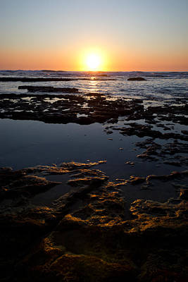 Sun Photograph - Golden Rocks by Nadya Ost