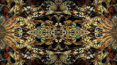 Bipolar Digital Art - Golden Split Crop by Peggi Wolfe