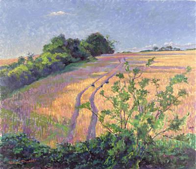 Cornfield Painting - Golden Summer by Robert Tyndall