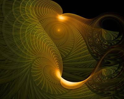Golden Waves Print by Amanda Moore