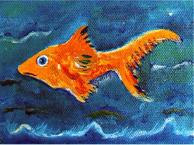 Fish Painting - Goldfish by Paintings by Gretzky