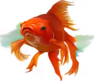 Goldfish Digital Art - Goldish by Christian Kolle