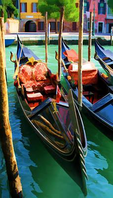 Gondola Print by Photography Art