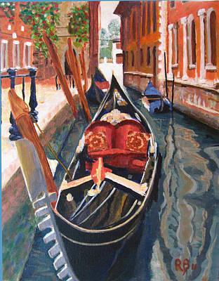 Gondola Veneziana Print by Robie Benve