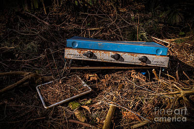 Hand Thrown Photograph - Gone Camping by John Farnan