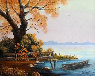Gone Fishin' In The Fall Original by Henry Smith