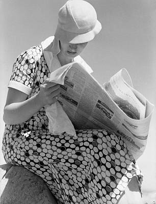 Cloche Hat Photograph - Good News? by Chaloner Woods