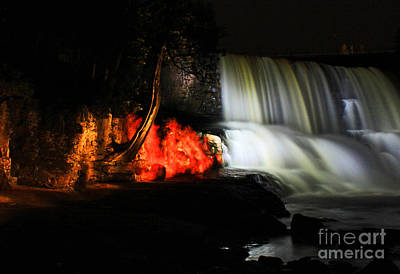 Gooseberry Falls With A Side Of Fire Print by Jamie Rabold