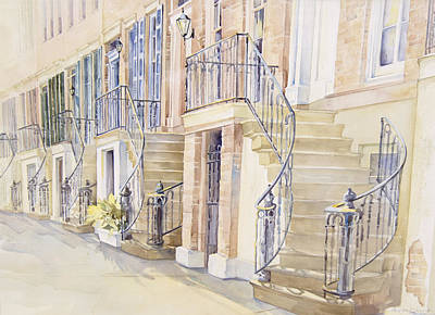 Bannister Painting - Gordon Row by Lynne Grant