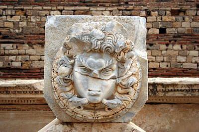 Gorgon At Leptis Magna, Libya Print by Joe & Clair Carnegie / Libyan Soup