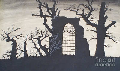 Drawing - Gothic Landscape by Silvie Kendall