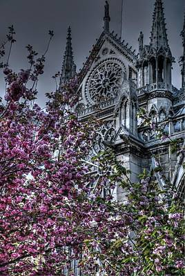 Gothic Paris Print by Jennifer Ancker