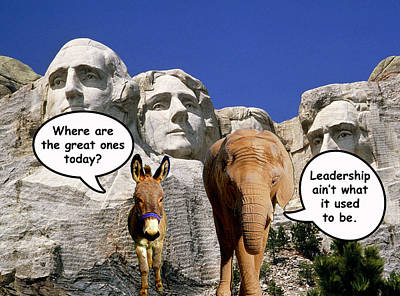 Mount Rushmore Digital Art - Government Leadership by Anthony Caruso