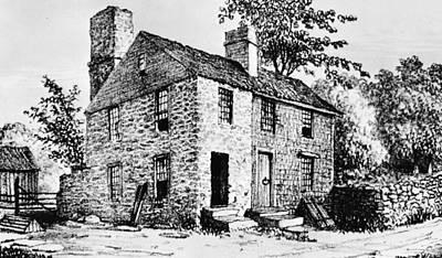 Governor Caleb Carr House. A House Print by Everett