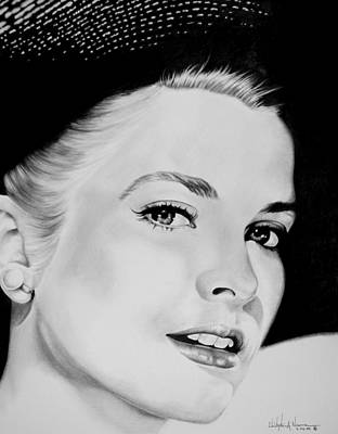 Grace Kelly Drawing - Grace by Christopher A Newman