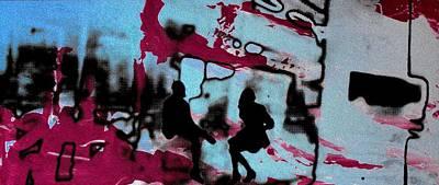 London Tube Mixed Media - Graffiti - Urban Art Serigrafia by Arte Venezia