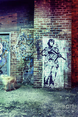 Brick Street Photograph - Graffiti by HD Connelly