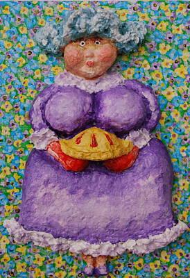 Gramma's Cherry Pie Print by Alison  Galvan