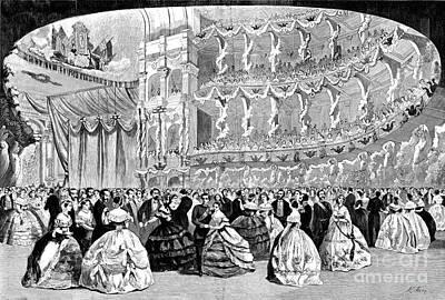 Grand Ball, New York, 1860 Print by Granger