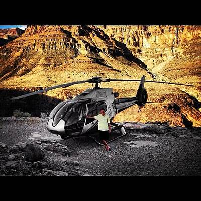 Helicopter Photograph - Grand Canyon Maverick Helicopters by Steven Pearce