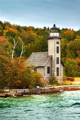 Grand Island Lighthouse No.1442 Print by Randall Nyhof