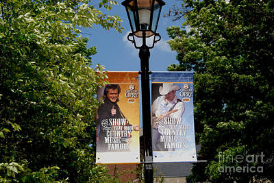 Grand Ole Opry Flags Nashville Print by Susanne Van Hulst