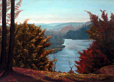 Grand River Look-out Print by Hanne Lore Koehler