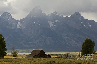 Old Barns Photograph - Grand Tetons Jackson Wyoming by Dustin K Ryan