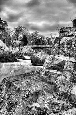 Granite In Black And White Print by JC Findley