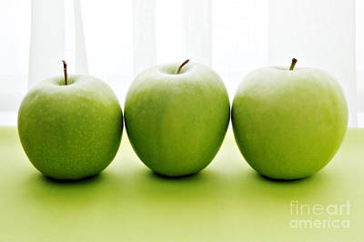 Granny Smith Apples Print by HD Connelly