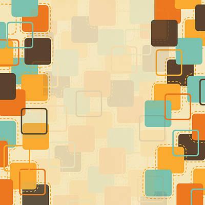 Graphic Square Pattern Print by Setsiri Silapasuwanchai