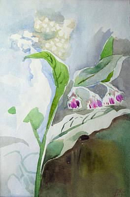 Racei Painting - Grass - Flowers. Etude by Yuri Yudaev