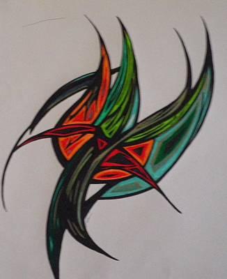 Grasshopper Drawing - Grasshopper by Tara Francoise