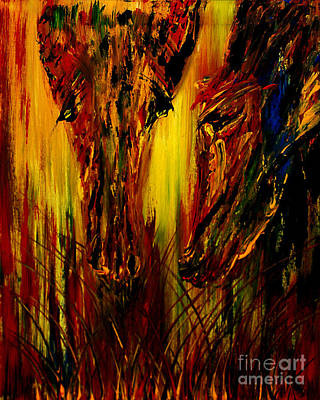 Abstract Painting - Grazing Through Time by Nandita Albright
