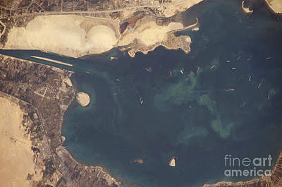 Great Bitter Lake, Egypt Print by NASA/Science Source