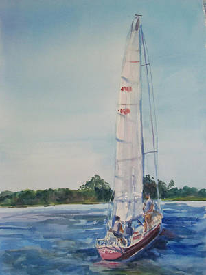 Great Day For A Sail Original by Joyce Kanyuk