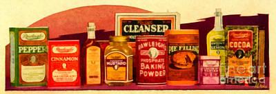 Great-grandma's Spices Print by Anne Kitzman