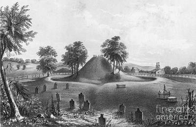 Great Mound At Marietta, 1848 Print by Photo Researchers