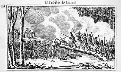 Great Swamp Fight, 1675 Print by Granger